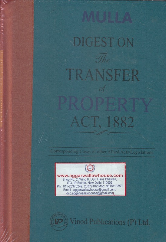 Digest on The Transfer of Property Act 1882