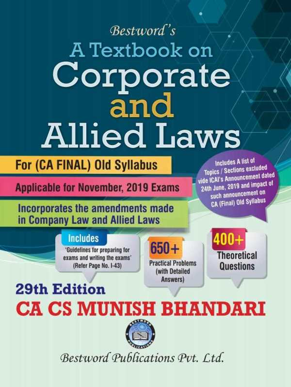 CA FINAL CORPORATE AND ALLIED LAWS BY MUNISH BHANDARI