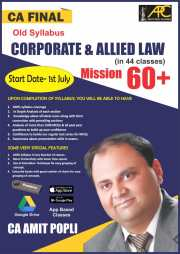 CA Final Corporate & Allied Laws Old Syllabus Video Lectures by CA Amit Popli