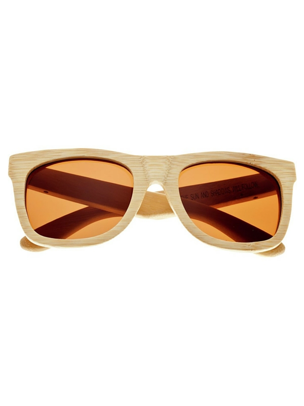 EARTH WOOD PANAMA SUNGLASSES - KHAKI TAN