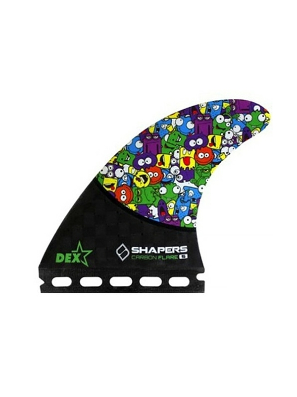 SHAPERS FINS FUTURE CARBON FLARE DEX CARTOON THRUSTER