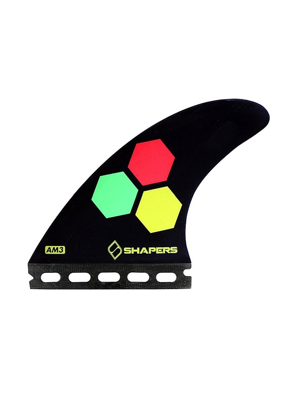 SHAPERS FINS FUTURE CORE LITE AM3 BLACK THRUSTER FINS
