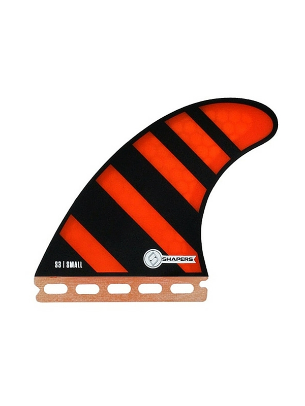 SHAPERS FINS FUTURE CORE LITE S3 ORANGE ZEBRA THRUSTER FINS