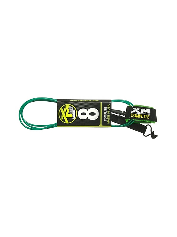 XM COMP LIGHT DOUBLE SWIVEL 8' GREEN SURF LEASH