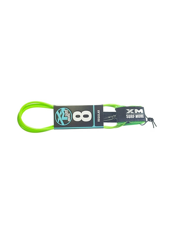 XM DOUBLE SWIVEL 8' LIME GREEN SURF LEASH