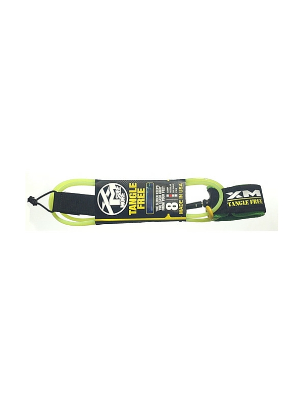 XM TANGLE FREE REGULAR DOUBLE SWIVEL 8' LIME GREEN SURF LEASH