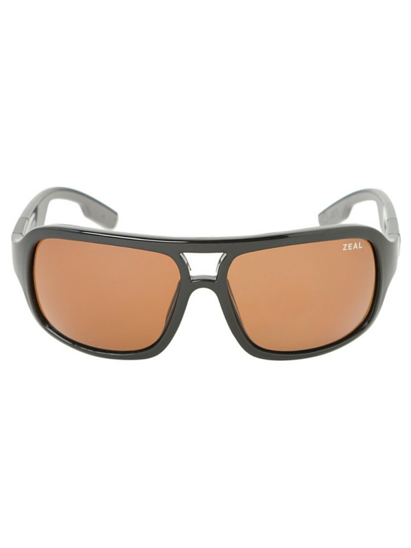 ZEAL BRODY SUNGLASSES - POLARIZED SHINY BLACK- COPPER