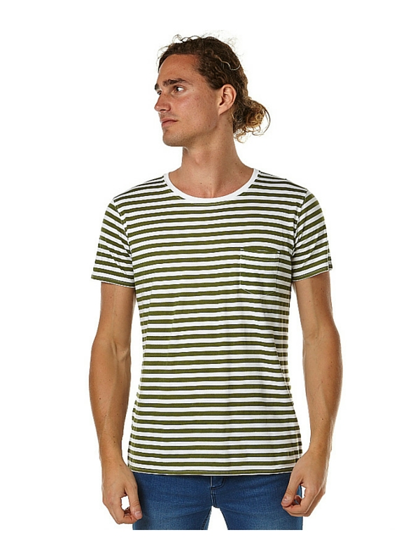 BANKS MILE MENS TEE SHIRT - OFF WHITE