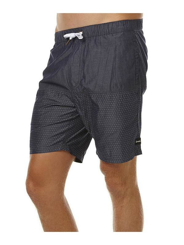 BARNEY COOLS TIDE 17 MENS BEACH SHORT - INDIGO