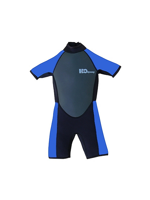 H2ODYSSEY CHILD WETSUIT SHORTY 3-2 BLUE