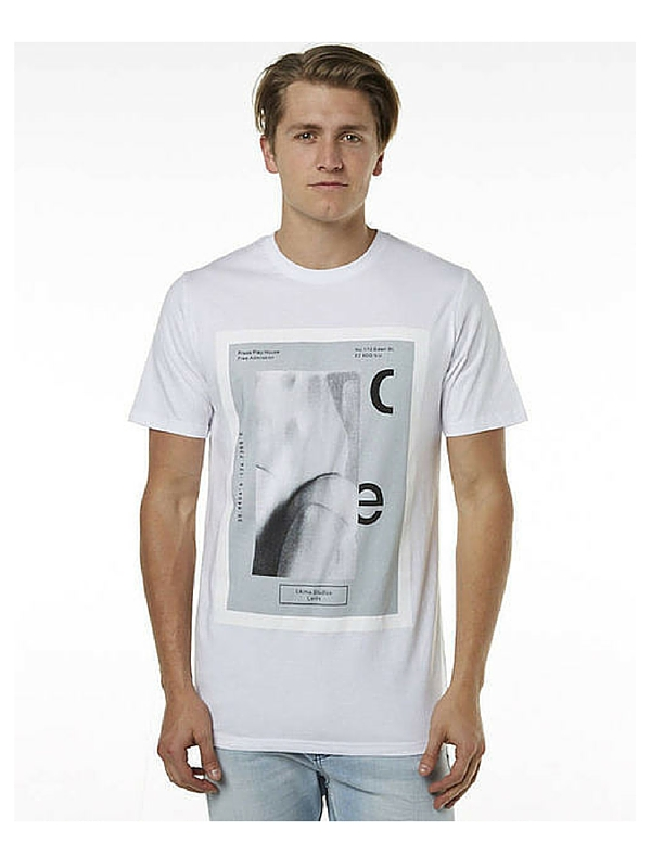 I LOVE UGLY PRINTED ADMISSION MENS TEE - WHITE (2)