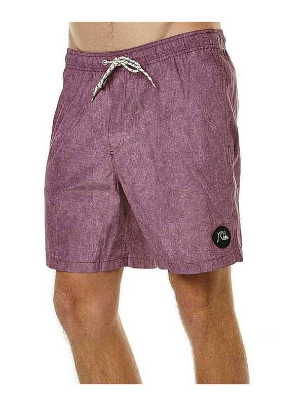 QUIKSILVER ACID PRINT VL 17 MENS BEACH SHORT - PLUM WINE