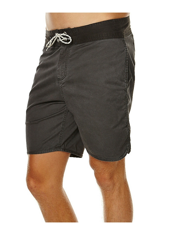 QUIKSILVER STREET TRUNK SCALLOP MENS BOARDSHORT - DARK SHADOW