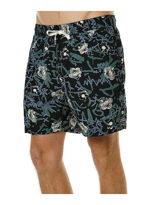 QUIKSILVER TURBO DOG ELASTIC MENS BEACH SHORT - ANTHRACITE