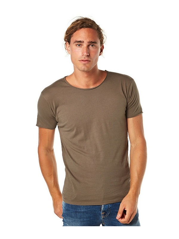 SILENT THEORY OVER CROTCH MENS TEE - KHAKI