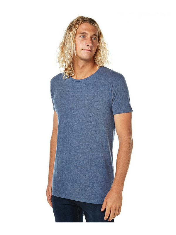 SILENT THEORY OVER CROTCH MENS TEE - NIGHT BLUE