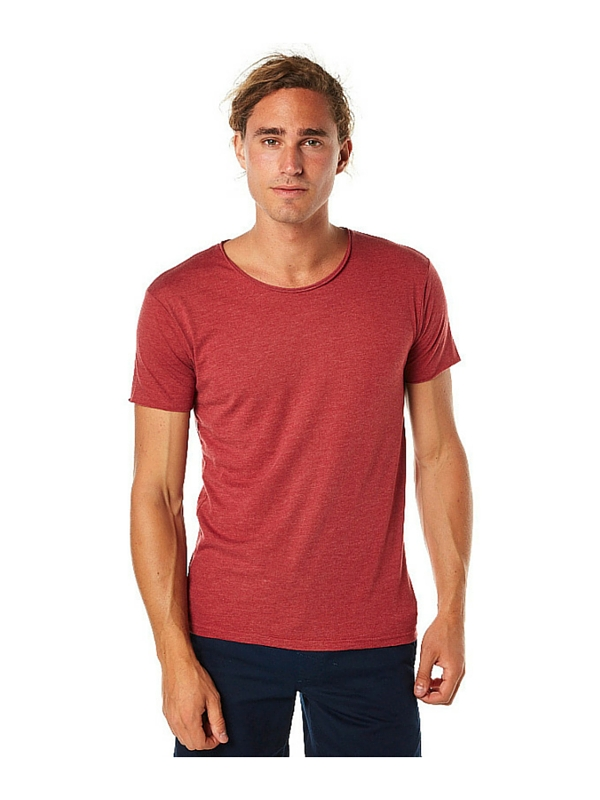 SILENT THEORY OVER CROTCH MENS TEE - RED MARBLE