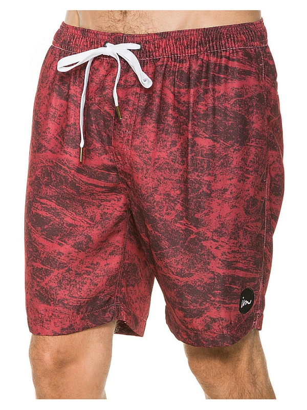 IMPERIAL MOTION MARBS BOARDSHORT - RED