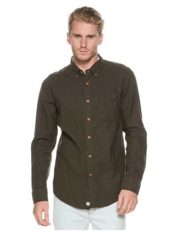 DEUS EX MACHINA ALBIE BRUSHED LS SHIRT