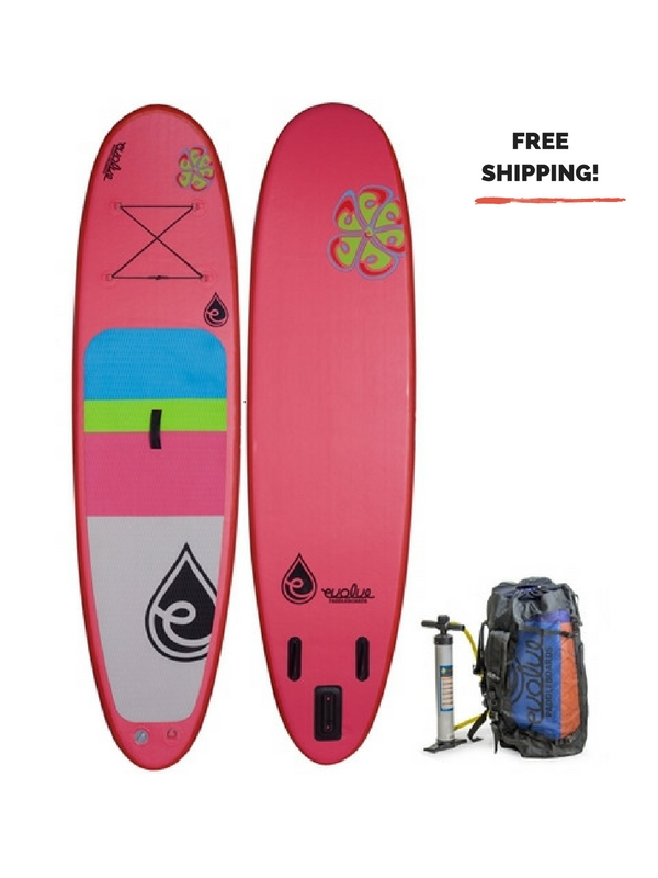 EVOLVE INFLATABLE AIR HEADED CRUISING SUP BOARD PINK