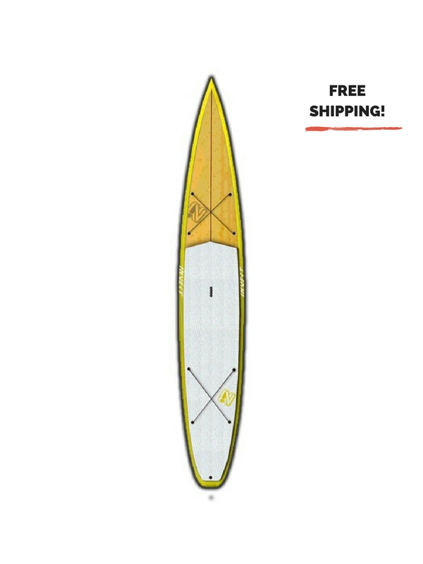 INVERT TREX TOURING%2FRACE BAMBOO YELLOW 14' SUP BOARD (1)