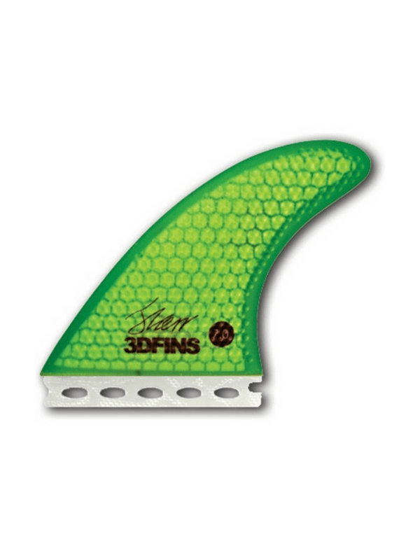 3D FINS XDS FIBERGLASS 7.0 FUTURE FINS GREEN THRUSTER SET UP 165 LBS AND UP