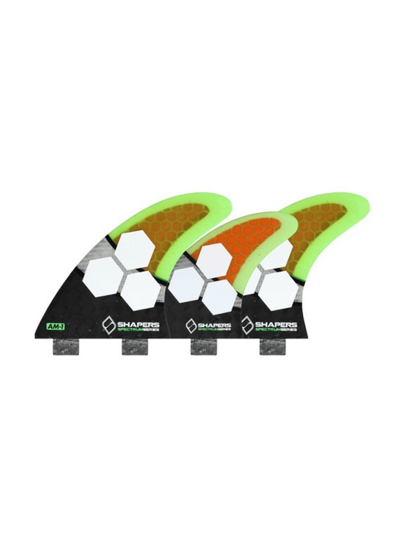 shapers-fins-fcs-carbon-spectrum-am1-5-fin-set-medium-black%2f-orange%2f-green