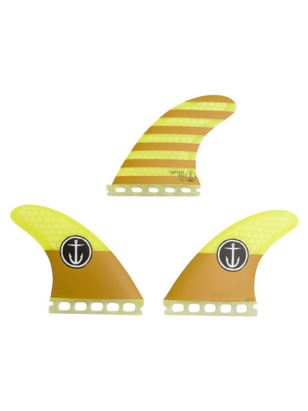 CAPTAIN FIN SMALL THRUSTER SINGLE TAB SURFBOARD FINS