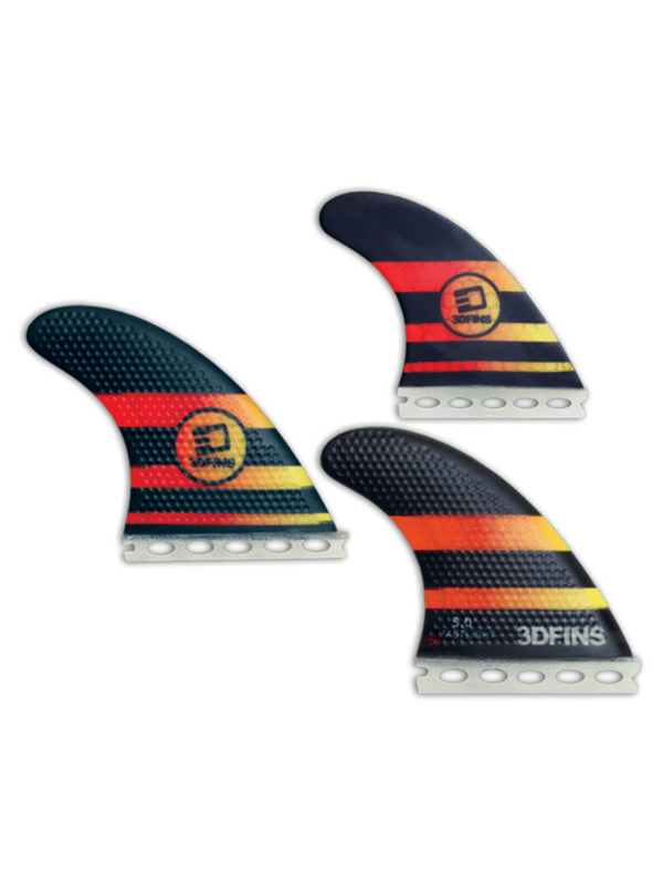 3D FASTLIGHT THRUSTER 5.0 MED FULL-BASE BLACK YELLOW RED FINS