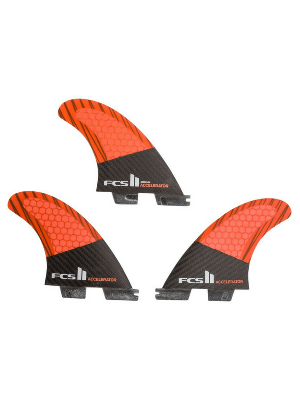 FCS II ACCELERATOR PC CARBON MEDIUM TRI FINS