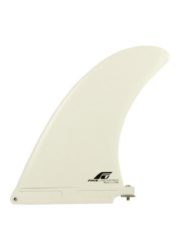 FINS UNLIMITED MOLDED 8.0 LONGBOARD SUP FIN – WHITE