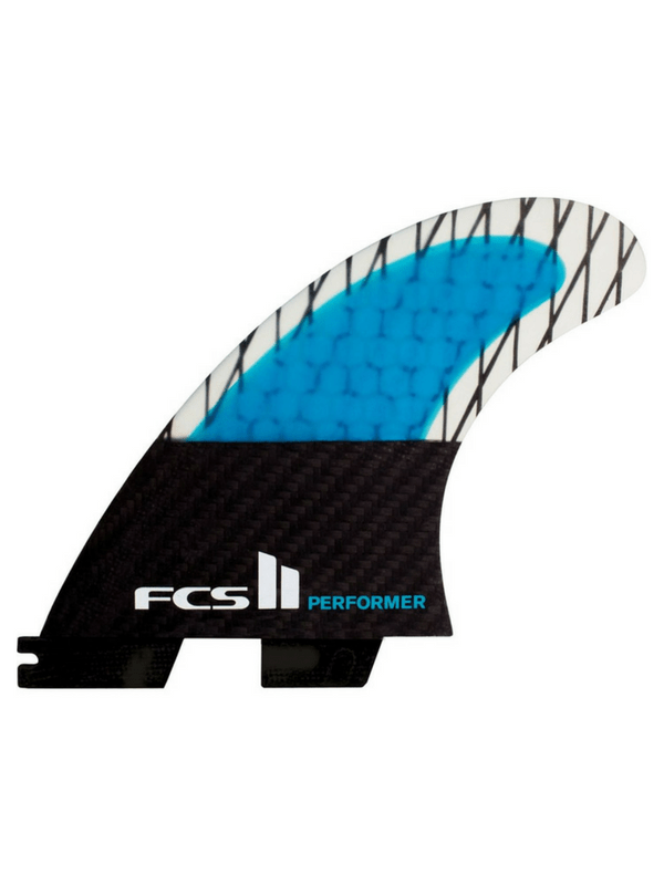 FCS II PERFORMER PC CARBON LARGE TRI FINS