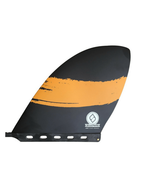 Shapers Longboard Sup Fins Pivot Series D-fin 8.8 Black Orange