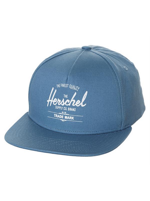 f178f320157 HERSCHEL SUPPLY CO WHALER SNAPBACK HAT – WASHED PALE INDIGO ...