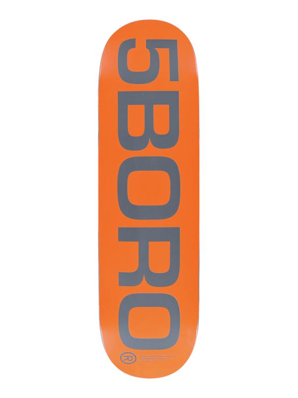 5BORO EXT LOGO DECK-7.75 ORANGE_GREY