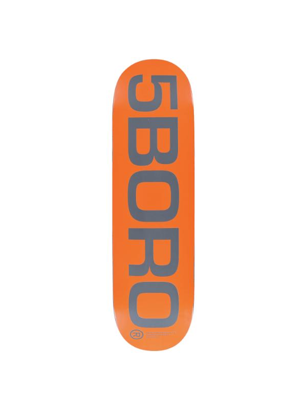 5BORO EXT LOGO DECK-8.5 ORANGE_GREY