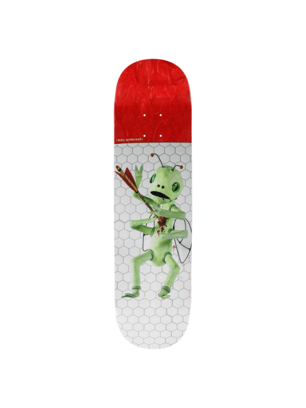 AW SPEARS BUGOUT DECK-8.0 WHT_RED