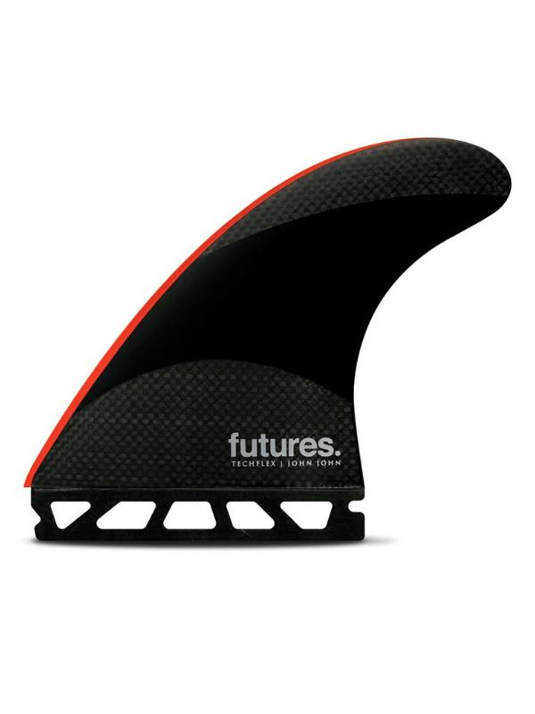 FUTURE FINS JOHN JOHN-2 LARGE TECHFLEX THRUSTER – BLACK_BRIGHT RED