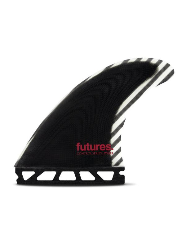 FUTURE FINS PYZEL MEDIUM CONTROL SERIES FIBERGLASS THRUSTER - BLACK_WHITE