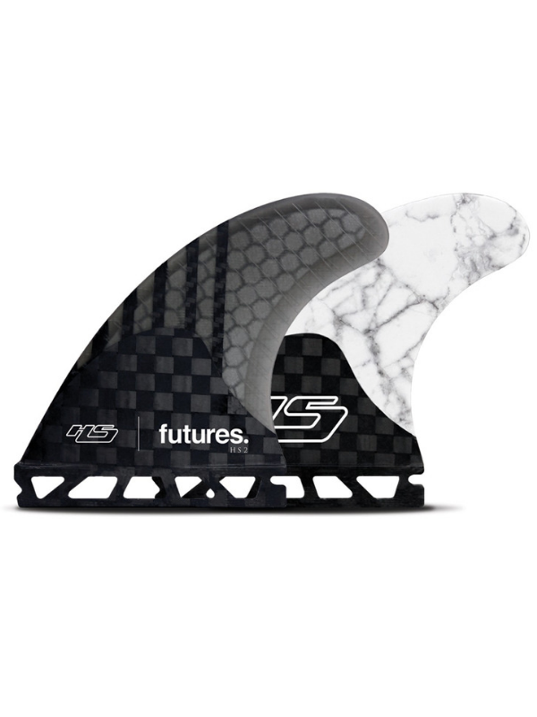 FUTURES FINS HS2 GENERATION THRUSTER - CARBON SMOKE WHITE MARBLE