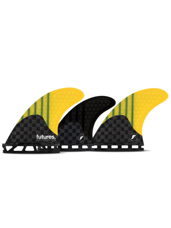 V2 F4 GENERATION 5 FIN - CARBON_YELLOW