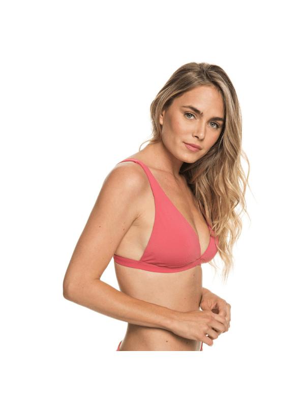 ROXY WOMENS Softly Love Elongated Tri Bikini Top PINK