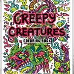Creepy Creatures Coloring Book Cover