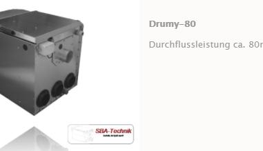 SBA Trommelfilter Drumy 80, Teichfilter, Filtertechnik, Teich