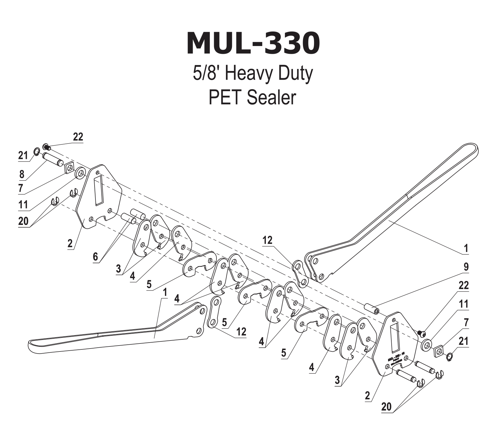 Parts For Mul 330 Heavy Duty Symmetrical Sealer For
