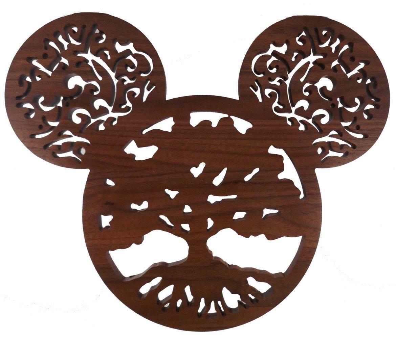Hardwood Tree of Life Mickey Ears - Walnut