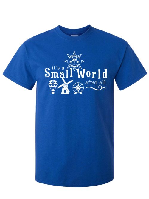 It's A Small World After All Antique Royal Blue T-Shirt