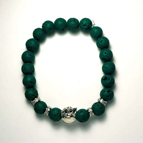 Baby Yoda Lava Bead Bracelet