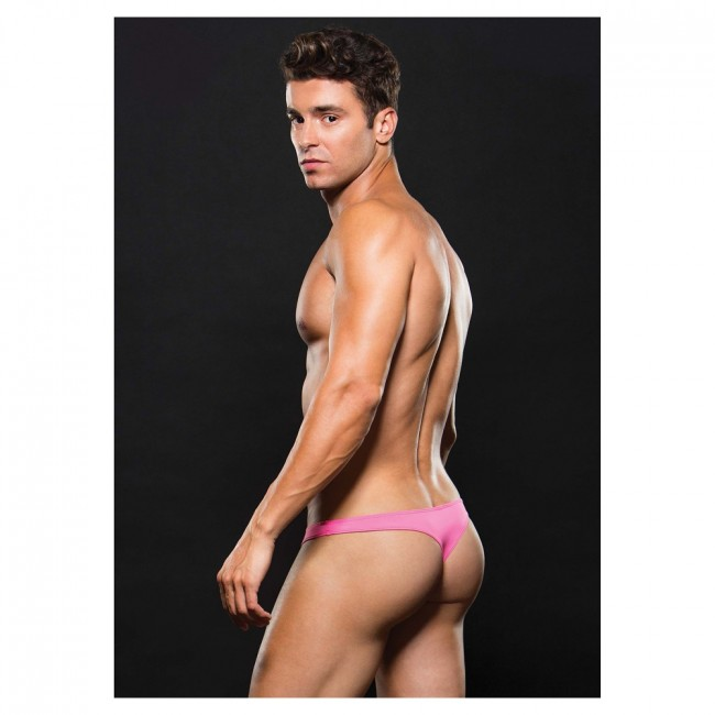 Envy Microfiber Low Rise Zip Thong Pink