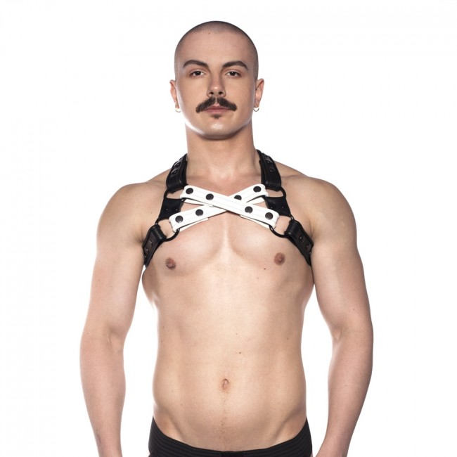 Prowler RED Cross Harness Black/White